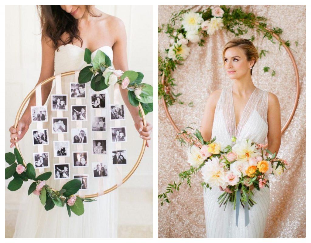 Buquê de aro tendência diferente para noivas